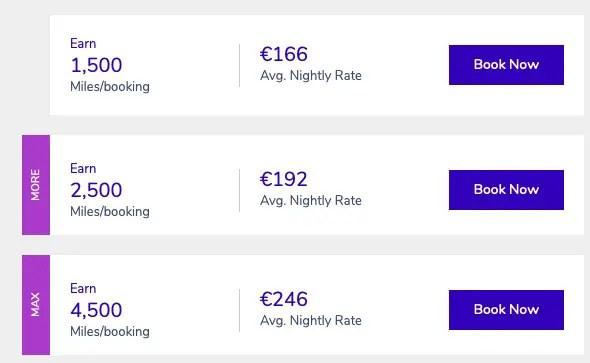 Extra miles verdienen bij hotelovernachting