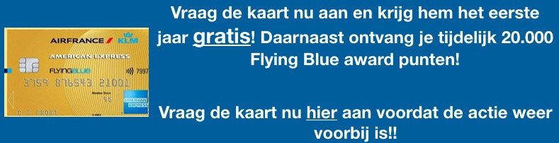 Is de American Express Flying Blue kaart 170 euro waard?