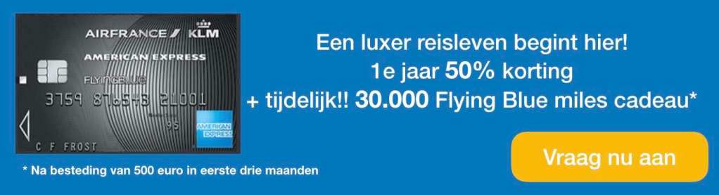 American Express Flying Blue Platinum kaart 30000 Flying Blue miles