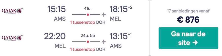 Amsterdam - Melbourne - Qatar Airways Economy Classs