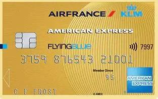 American Express Flying Blue gold credit card krediet kaart AMEX goud