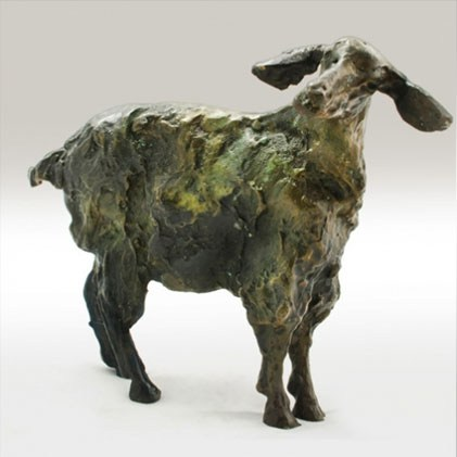 Grooming Goat Sculpture