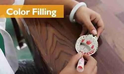 5 lapel pins color filling process at ilapelpin com china lapel pins factory cheap enamel pins supplier