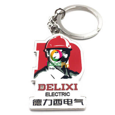Printed Keyrings China Custom Logo Keychains Factory - iLapelPin.com 1