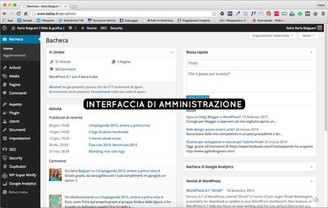 Il blog, così come lo vedi tu quando lo amministri