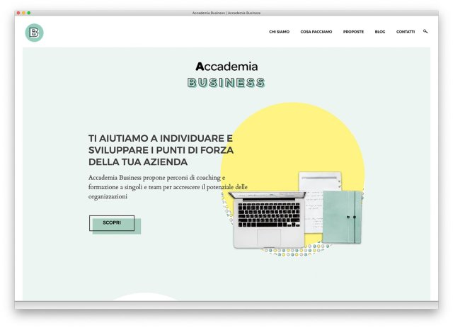 Homepage Accademia Business