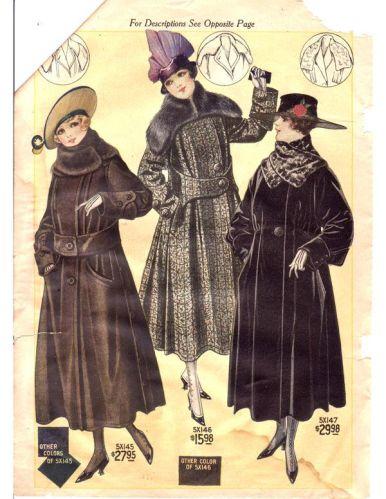 1917 1918 cappotto donna
