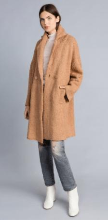 Twin Set cappotto in filato bouclè
