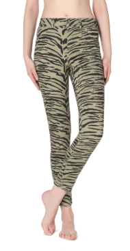 Leggings push-up zebrati