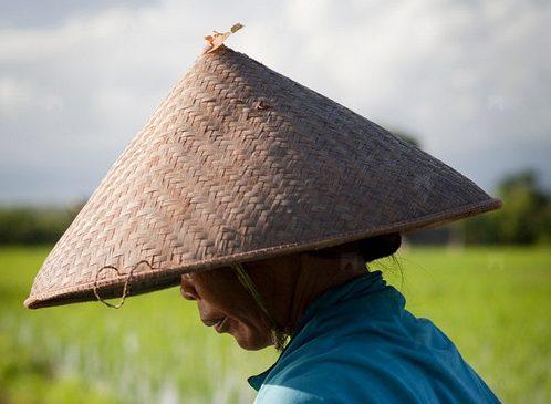 cappello di paglia a cono