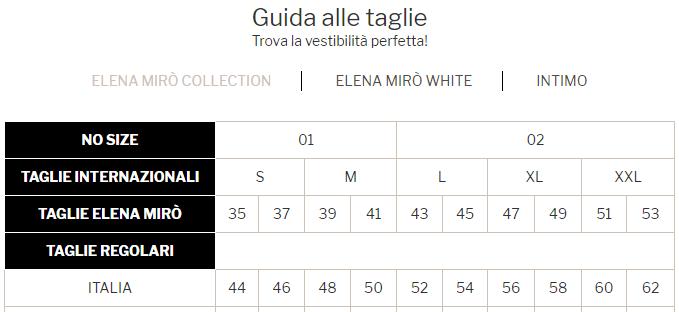 Elena Mirò taglie collezione primavera estate 2020