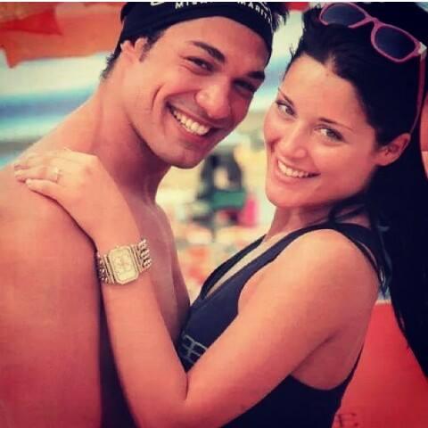 Foto di Diletta Pagliano con il suo Leonardo Greco finalmente di nuovo insieme