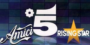 Amici contro i Rising Star per Mediaset