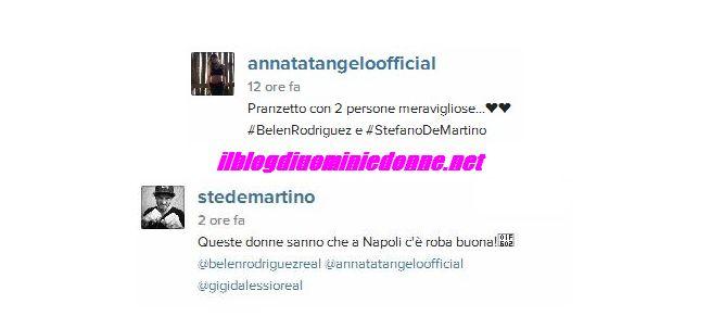 Anna Tatangelo e Gigi d'Alessio a cena