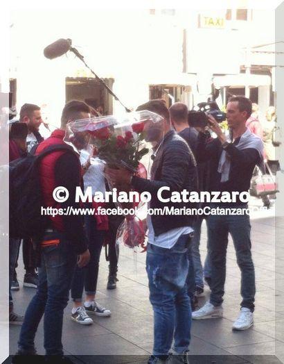 Mariano Catanzaro dopo l'esterna con Valentina Dallari