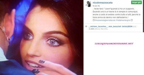 Nicole Mazzocato scrive nella sua pagina instagram
