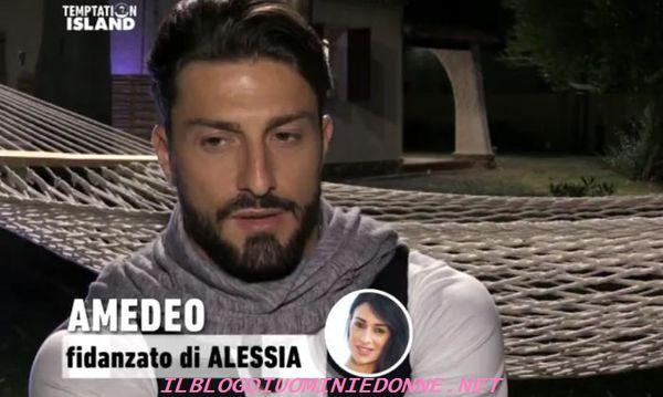 Amedeo Andreozzi amareggiato dalla frase di Alessia Messina,