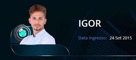 Igor dentro la casa del GF