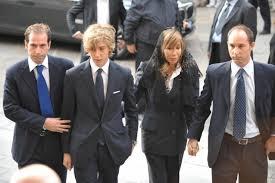 Nicolò Buongiorno con la famiglia il giorno del decesso di Mike