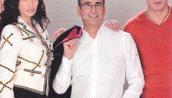 Carlo Conti con Madalina Ghinea e Gabriel Garko