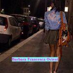 Barbara Francesca Ovieni la sera con gli amici