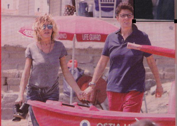 Eva Grimaldi insieme alla compagna Imma