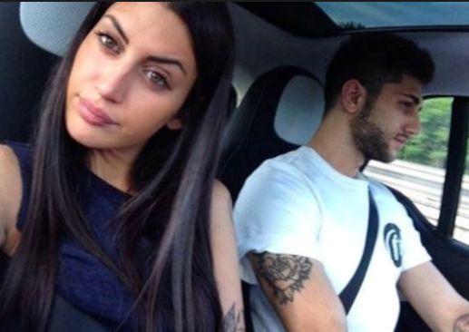 Jeremias Rodriguez con la fidanzata Sara Battista