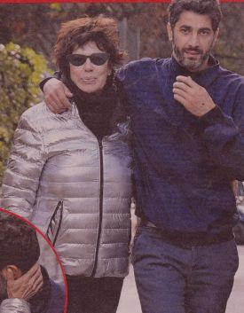 Corinne Cléry e Angelo Costabile a giro per Roma