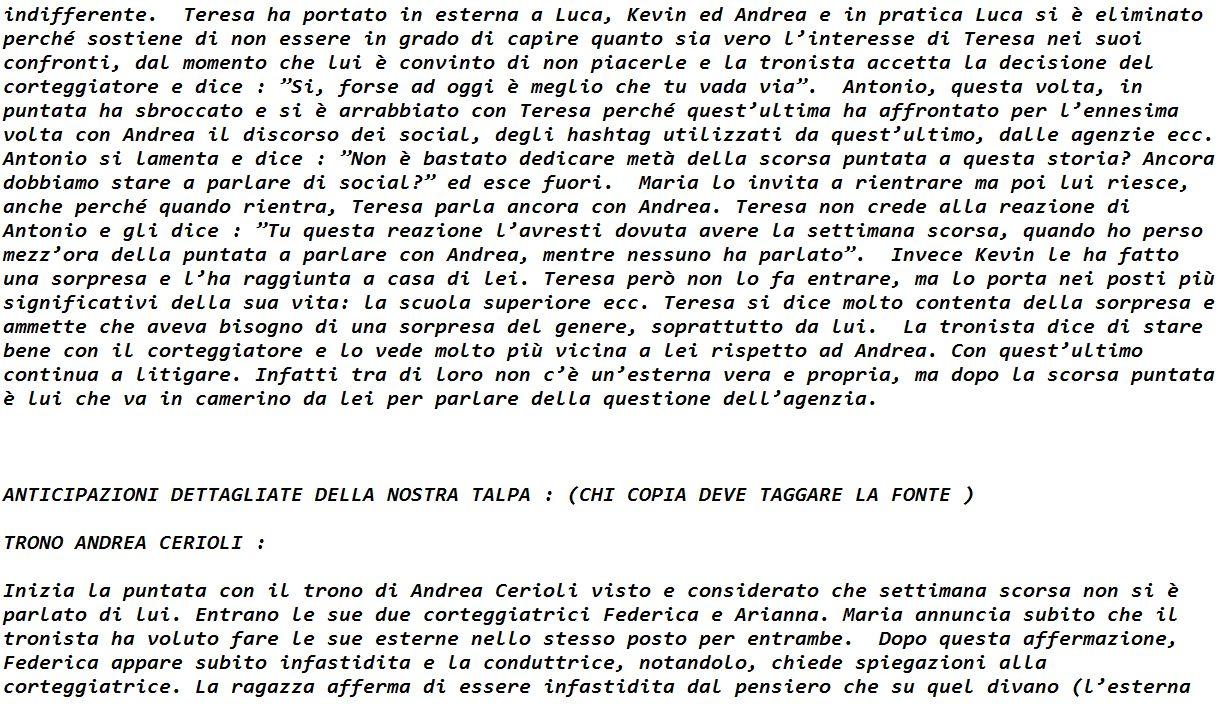 Anticipazioni Uomini e donne Lorenzo Riccardi Parte 11
