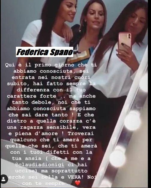 Federica Spano con le amiche Claudia Dionigi e Irene Capuano