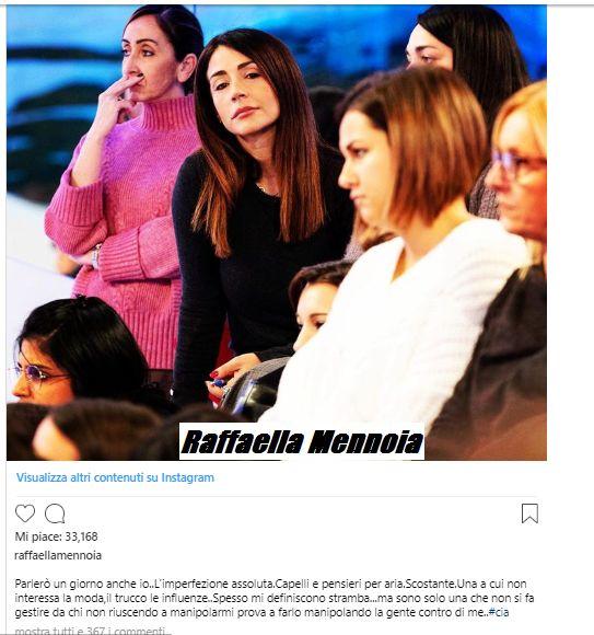 Andrea Damante contro Raffaella Mennoia
