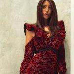 Foto di Chiara Nasti con elegante vestito rosso