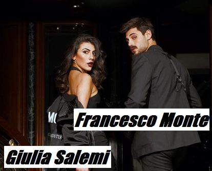 Foto di Giulia Salemi con Francesco Monte