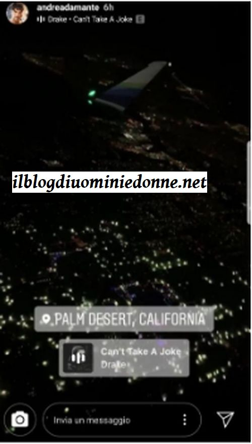 Andrea Damante e in California