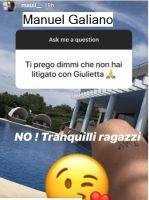 Manuel Galiano parla da Ibizza e smentisce ogni litigio con Giulia Cavaglià , come invece hanno sospettatole fans dopo che lui è andato a Ibizza da solo...