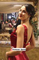 Vanessa Spoto bel bellissima in abito da sera rosso