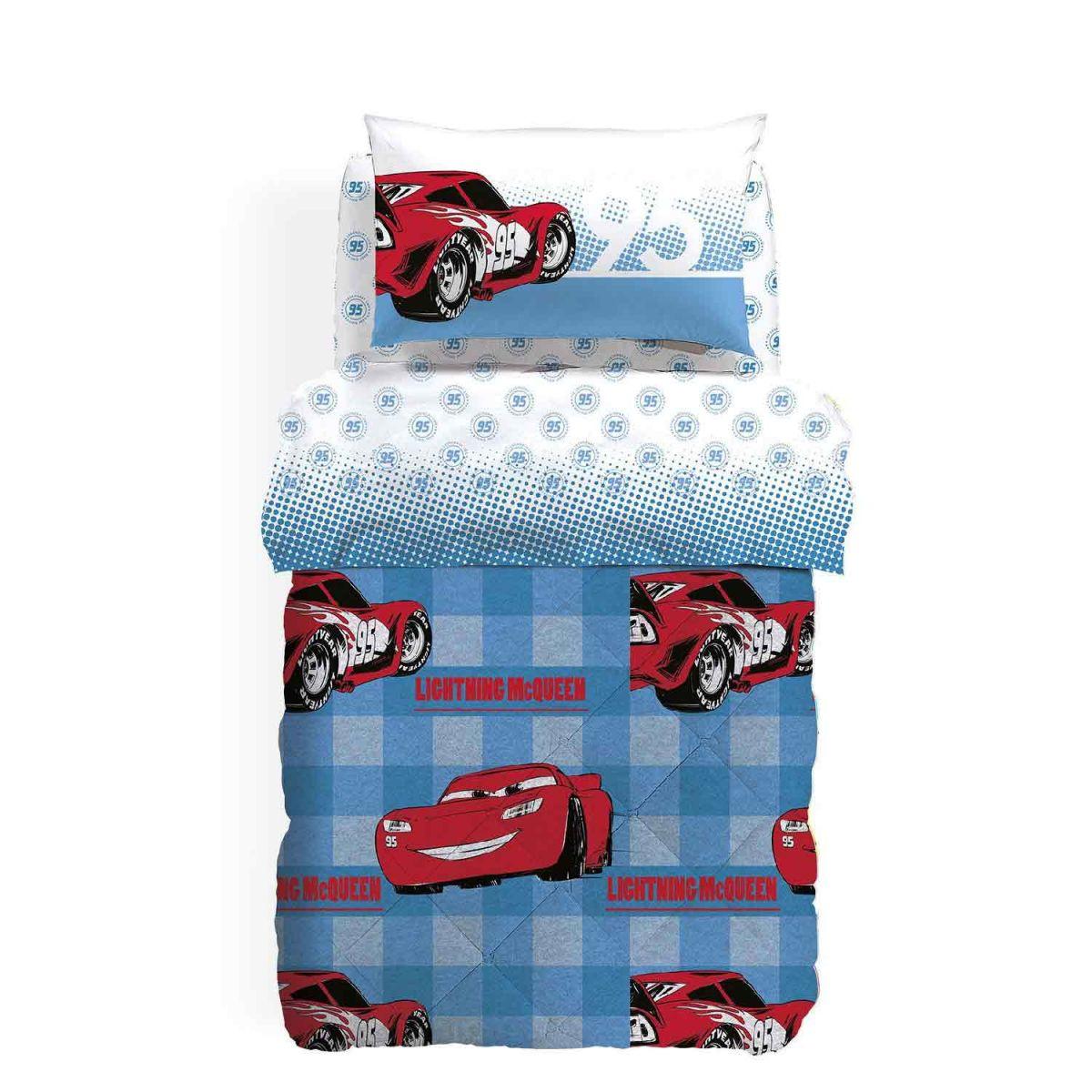 Disney cars lenzuolo con angoli 90x200 cm per letto 1 piazza cotone. Cars 95 Trapunta Invernale Una Piazza E Mezza Caleffi 1001318