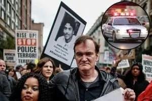 hateful eight manifestazione contro la polizia