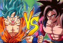 Super Saiyan blue vs Super Saiyan 4