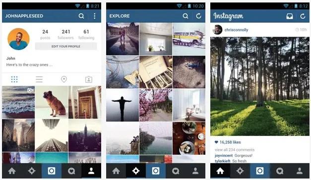 aggiornamenti instagram e facebook