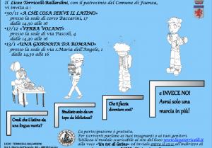 """Volantino di presentazione del ciclo di incontri """"Un tot di latino"""""""