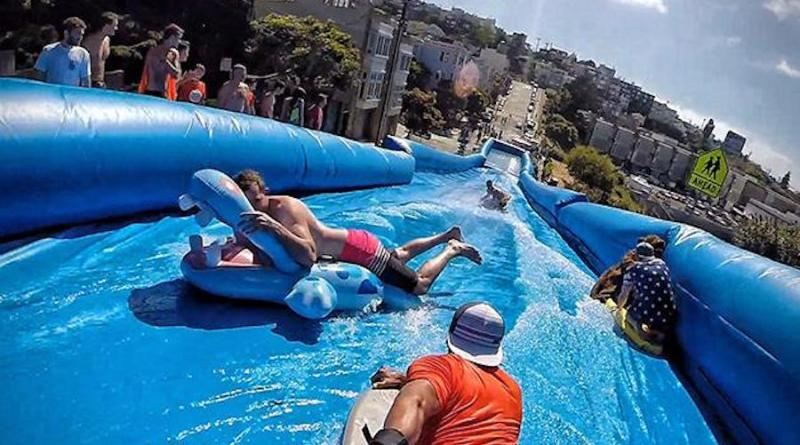 Slide in town