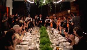 La cena di Postrivoro alla sede di Airbnb a San Francisco