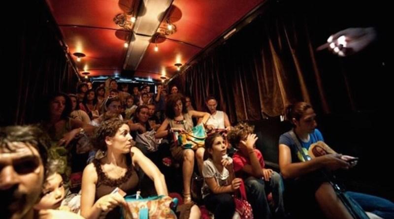Gli spalti nel teatrobus
