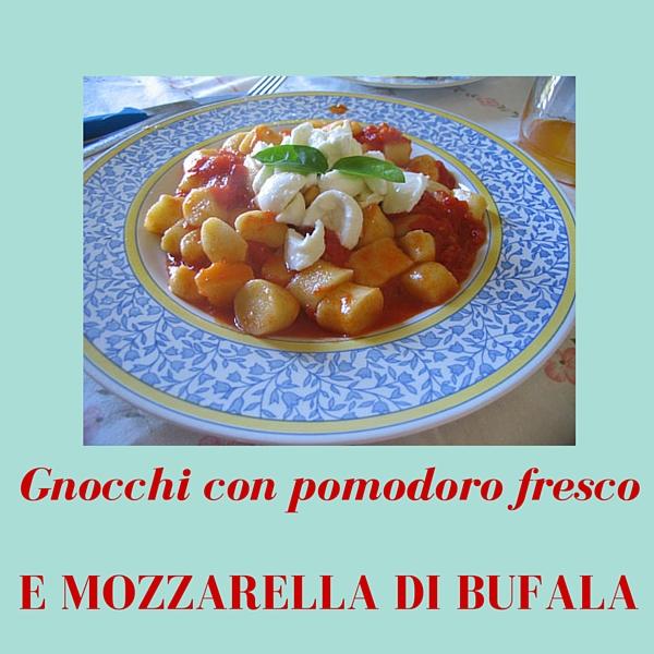 Gnocchi con pomodoro fresco e mozzarella di bufala
