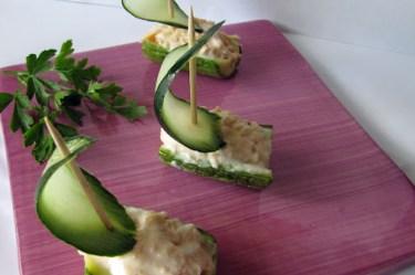 barchette di zucchine con salmone