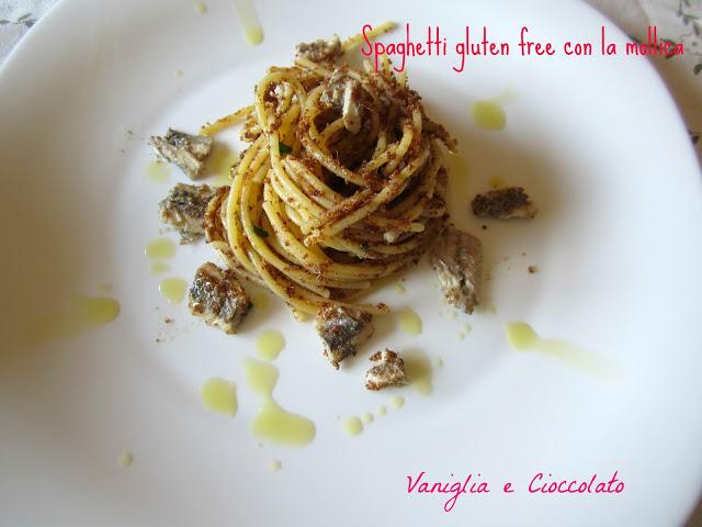 Spaghetti gluten free con mollica e alici