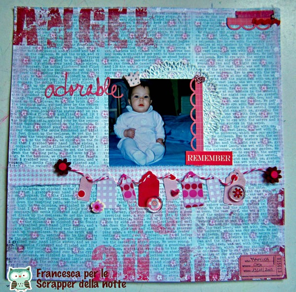 Scrapbooking layout:Adorable