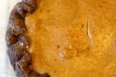 crostata di zucca vegan e senza glutine