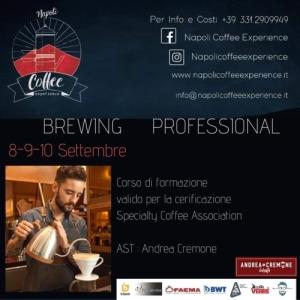 BREWING PROFESSIONAL: ANDREA CREMONE ARRIVA AL NAPOLI COFFEE EXPERIENCE